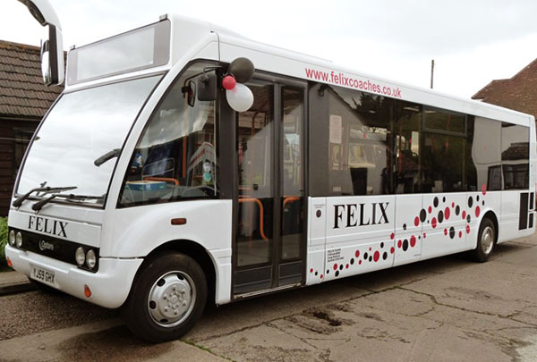 Excursions Sudbury Suffolk by Felix Coaches
